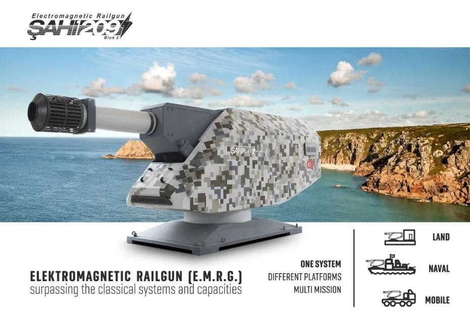 Turkey rail gun Sahi-209