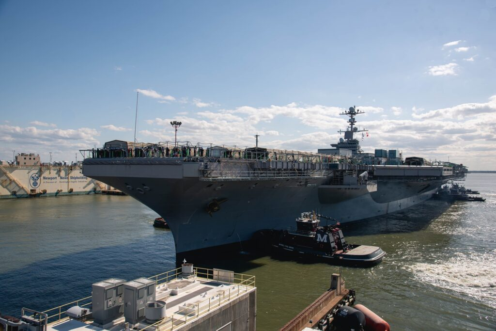 USS John C. Stennis arrives at HII to start its RCOH