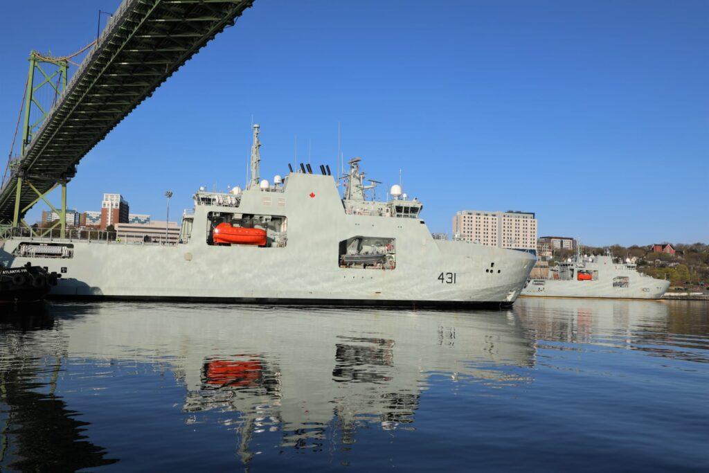 Royal Canadian Navy patrol ship HMCS Margaret Brooke completes sea trials