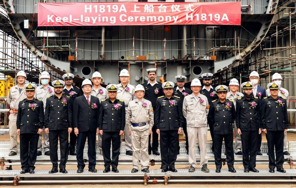 Pakistan Navy's new ships' keels laid in China and Turkey