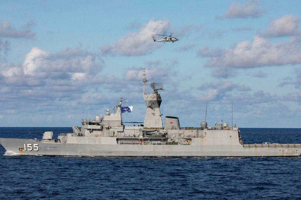 Australian HMAS Ballarat joins Operation Argos