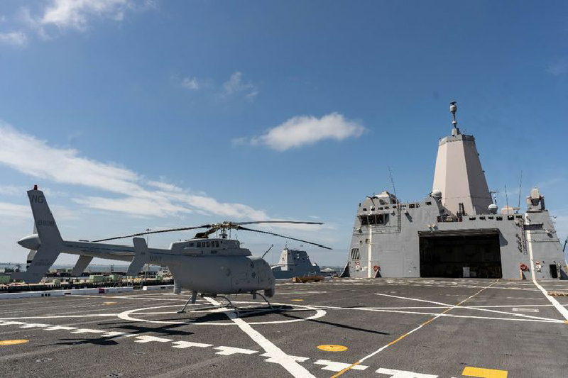 U.S. Navy's ship-based helicopter completes fit check aboard USS Anchorage