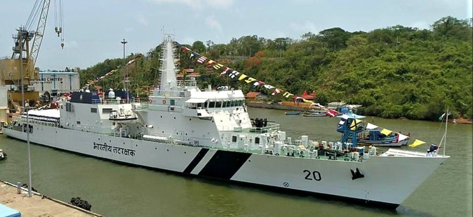 Indian Coast Guard's OPV Sajag commisioned