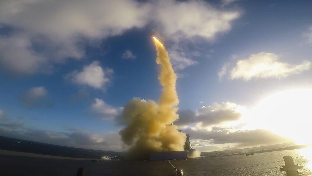 France's FS Forbin destroys supersonic target
