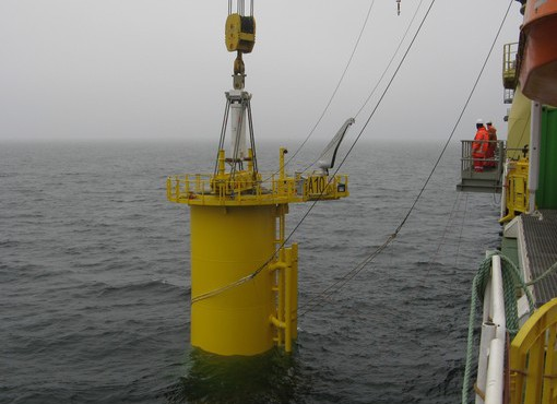 Denmark: Jumbo Fits First Transition Pieces at Anholt Offshore Wind Farm