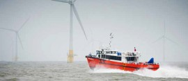 Wind farm support vessels