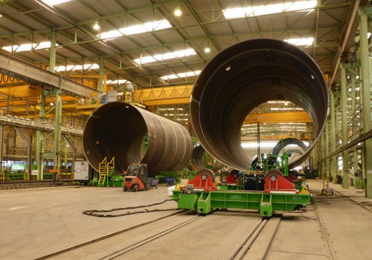 XL Monopiles for Gode Wind 1 & 2 Taking Shape