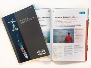 Offshore WIND International Business Guide 2019, cover and open publication