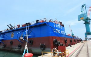 First Taiwanese Offshore Wind Barge Gets to Work