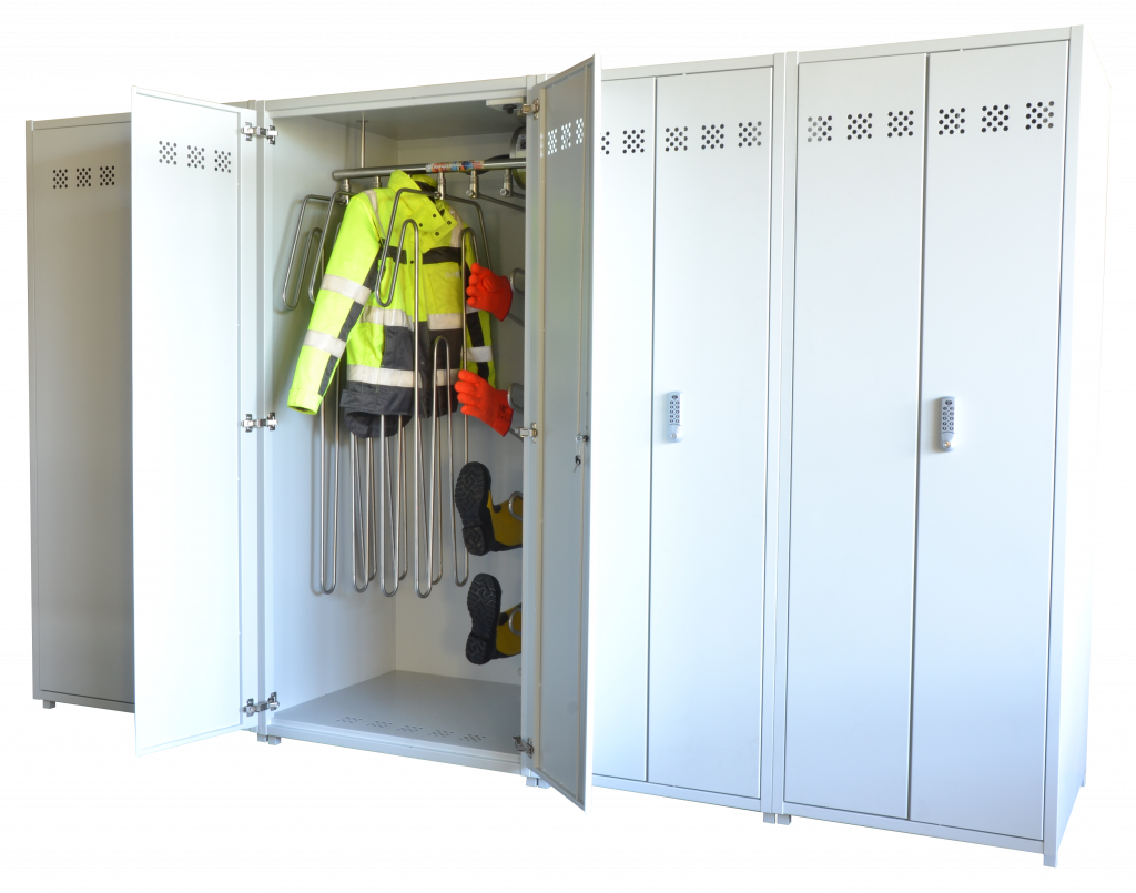 Drying cabinets for PPE