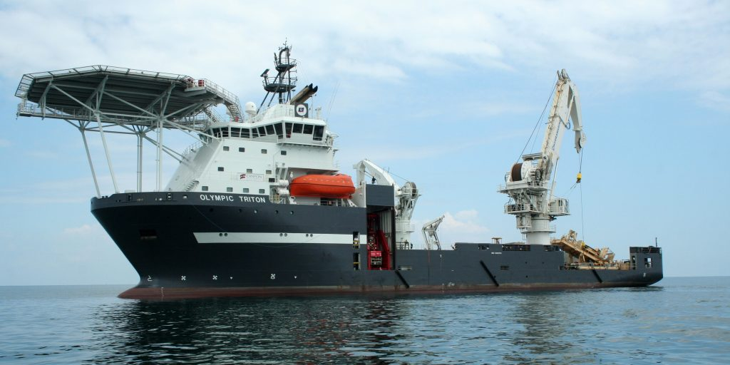 Figure 3. One of the pre-selected offshore construction vessels – Olympic Triton (courtesy of Olympic Subsea)