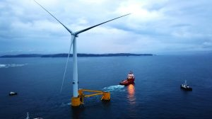 First WindFloat Atlantic Turbine In Place