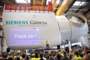 Siemens Gamesa Rolls Out First 10MW Nacelle