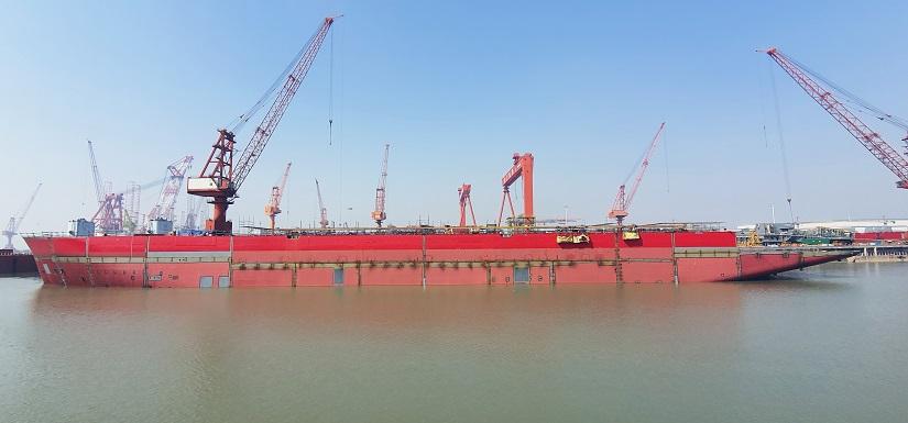 Alfa Lift hull at shipyard in China