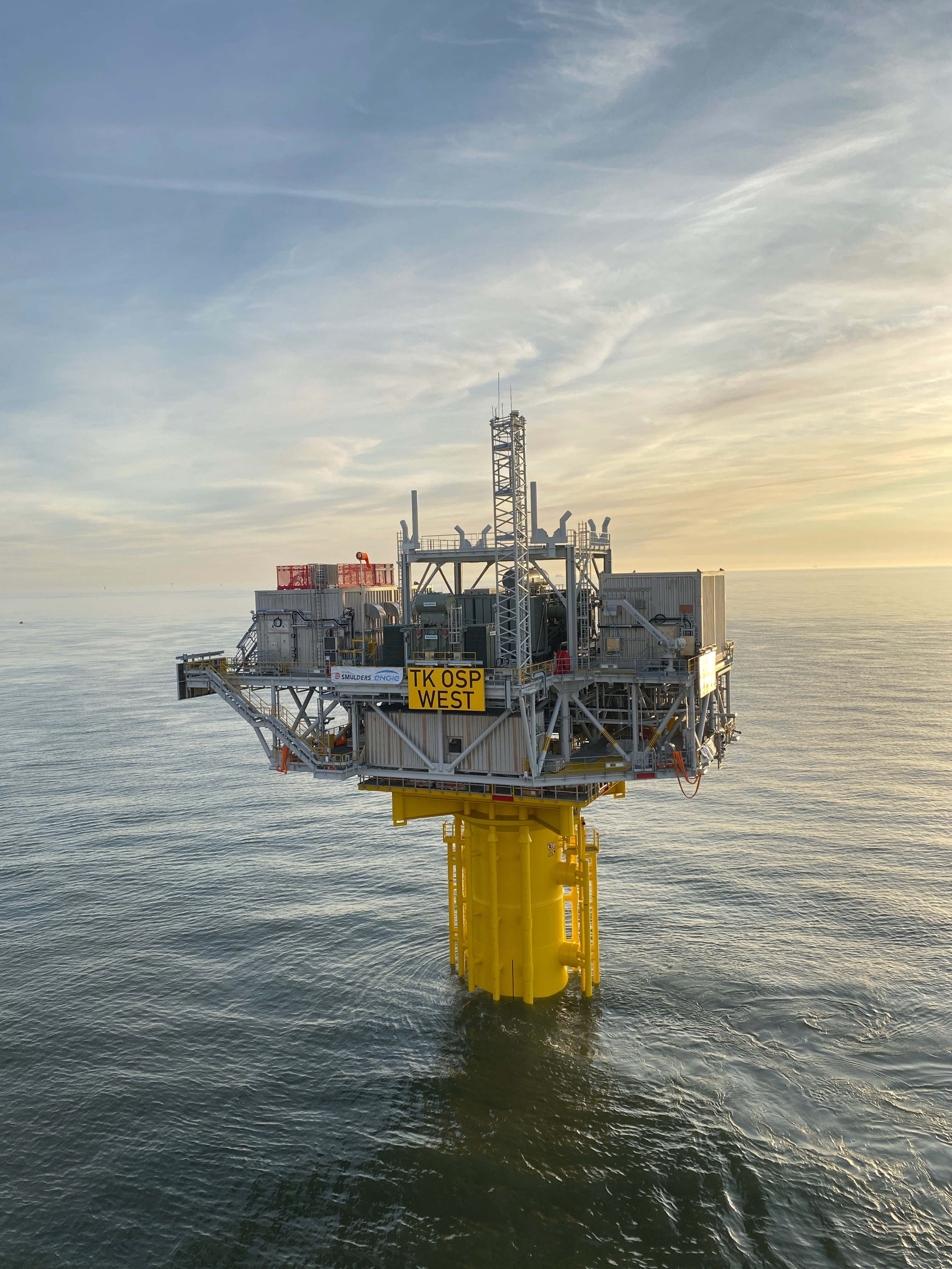 Triton Knoll offshore substation OSP West fully installed at its offshore location