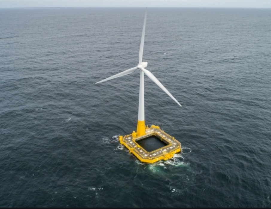 France's Only Offshore Wind Turbine Undergoes Survey