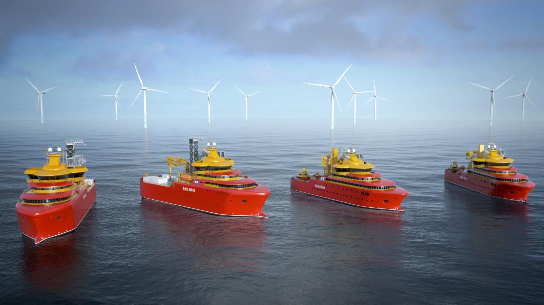MacGregor Equipment for New Edda Wind Offshore Wind Service Vessels