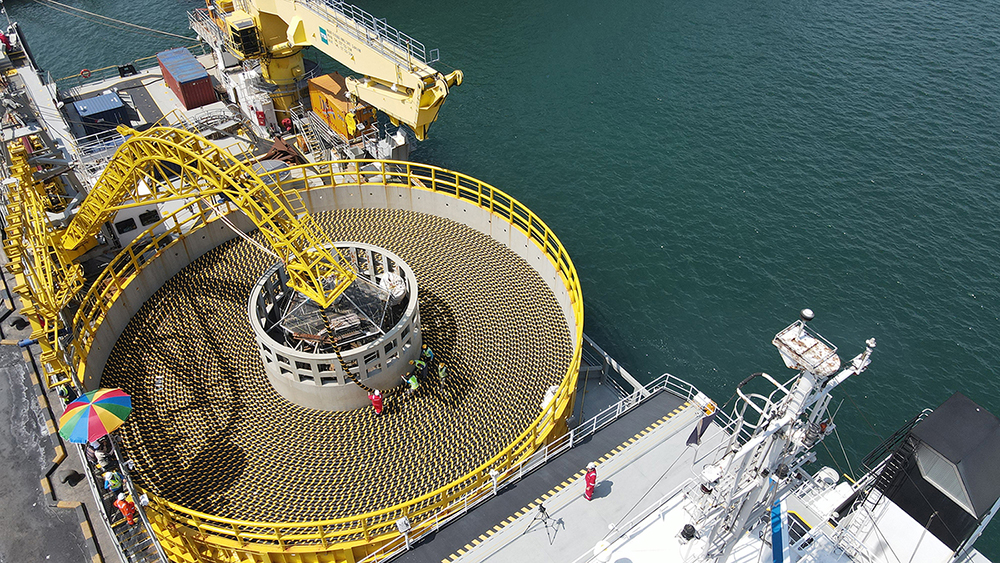 LS Cable & System's submarine cables being loaded at the Donghae Port in Gangwon-do.
