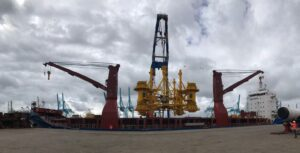 Seaway Yudin's Pile Installation Frame Ready for Trip to Taiwan
