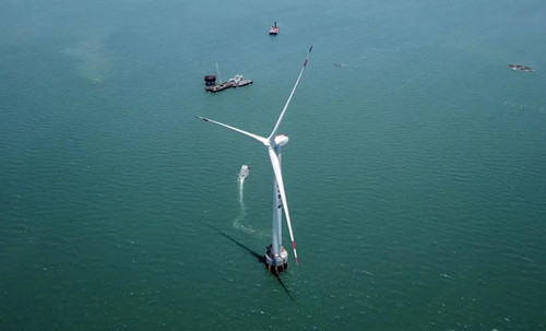 Dongfang's 10 MW wind turbine installed at sea