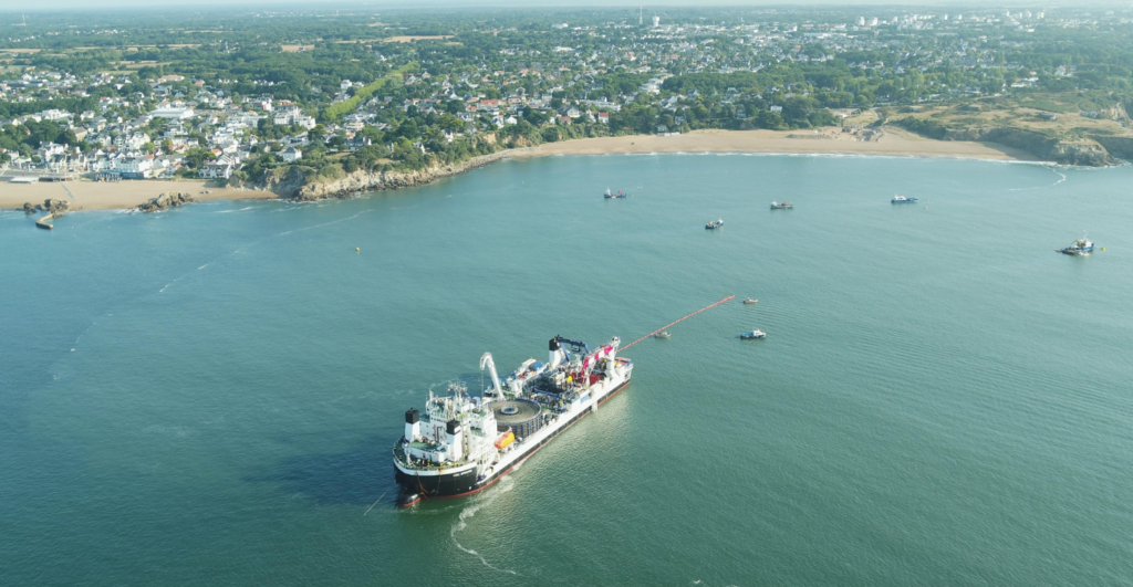 Saint-Nazaire Export Cable Installation Kicks Off