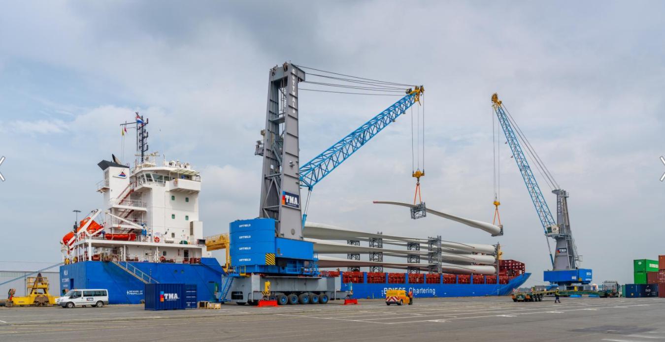 Windpark Fryslân Turbine Hardware Starts Arriving in Amsterdam