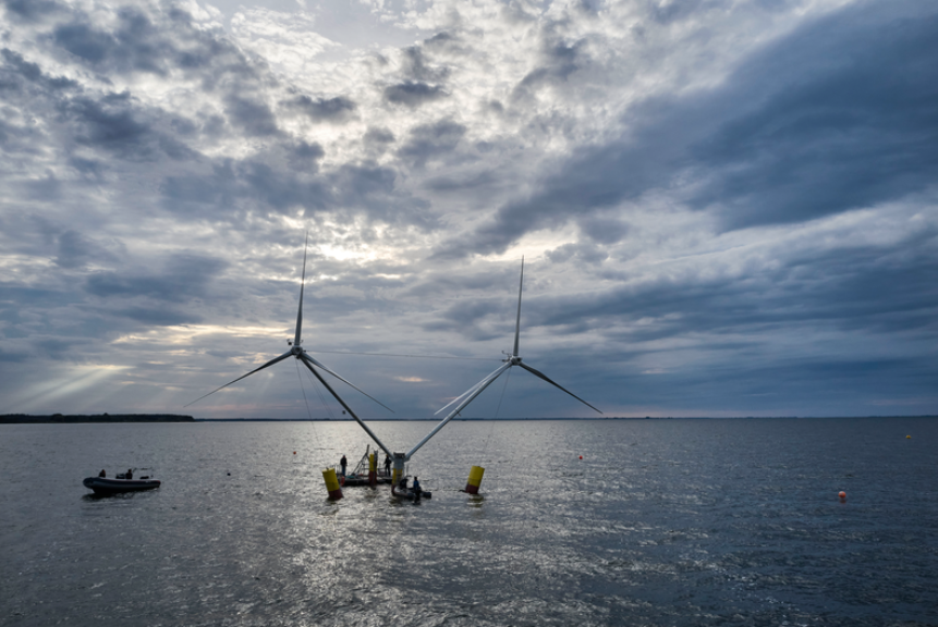 Two-Turbine Floater Starts Sea Trials
