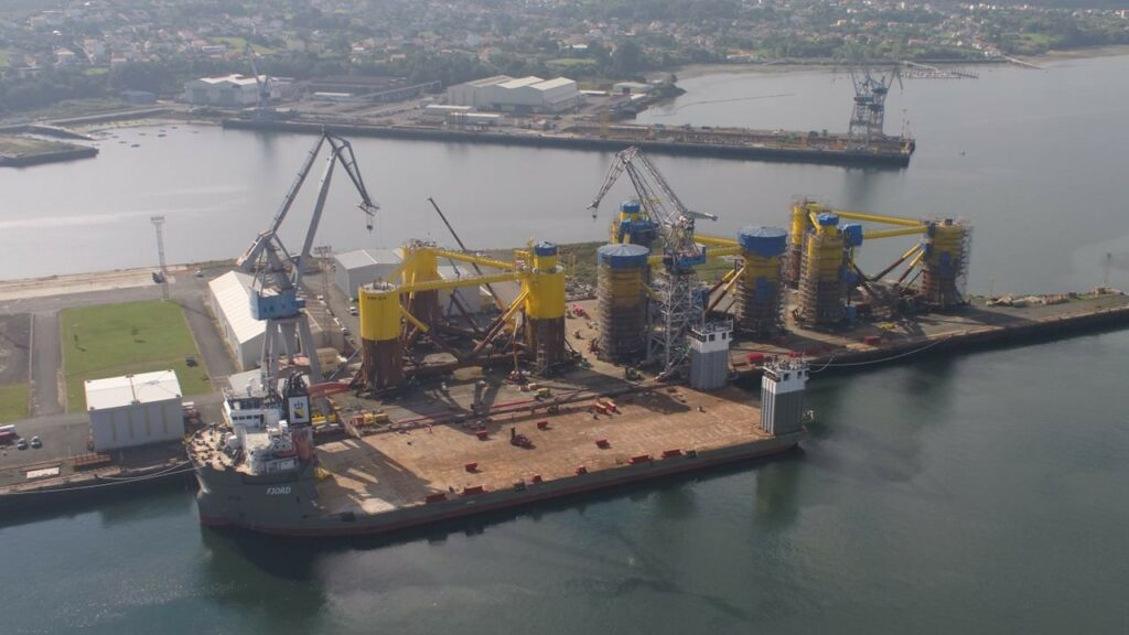 Kincardine Floating Foundations Ready for Load-Out