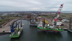 Dogger Bank Team Confirms Able Seaton Port for Wind Turbine Installation