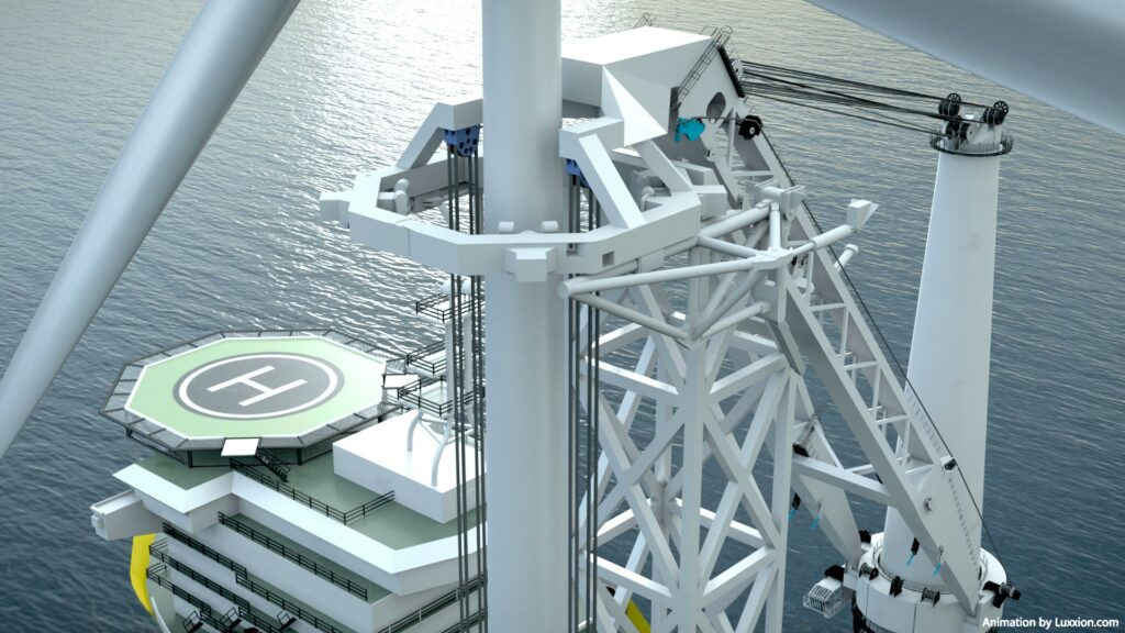 Offshoretronic's installation vessel comcept