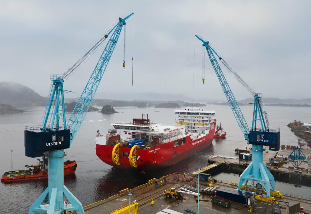 CLV Nexans Aurora launch on 8 November 2020.
