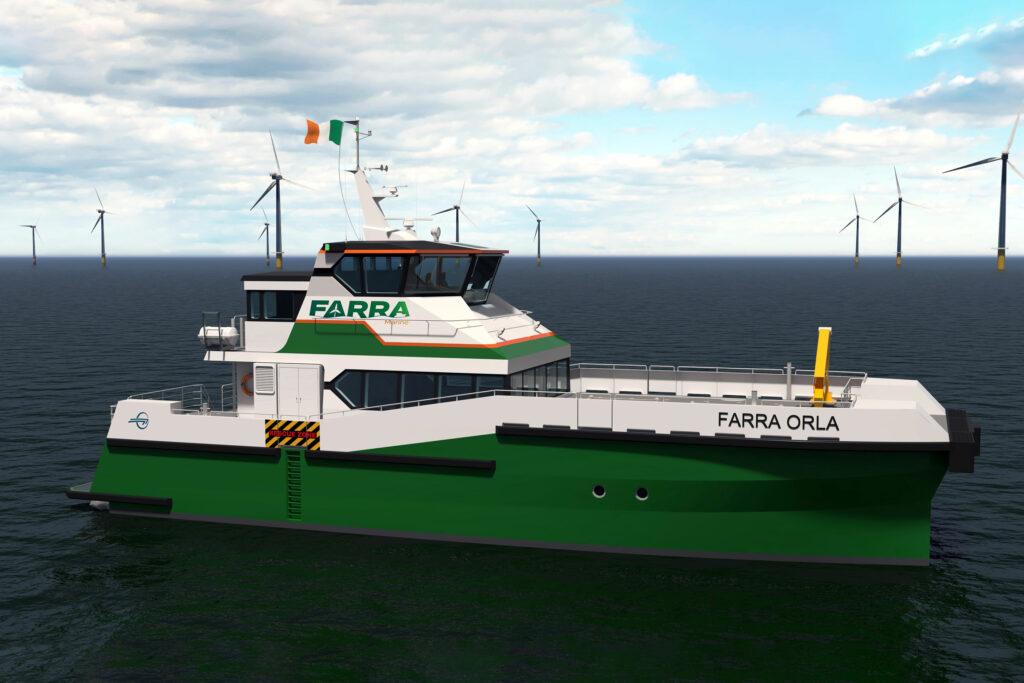 Ireland's First Wind Farm Service Catamaran Starts Taking Shape