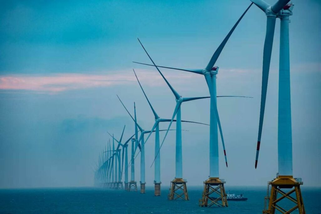 All Turbines Stand at Nanpeng Offshore Wind Farm