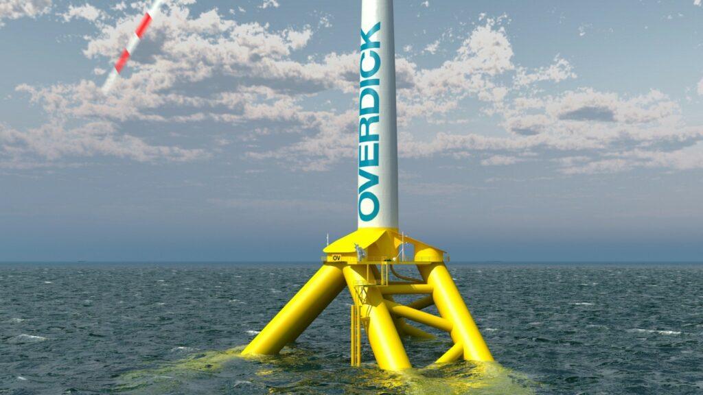 An image rendering Tractebel floating wind platform