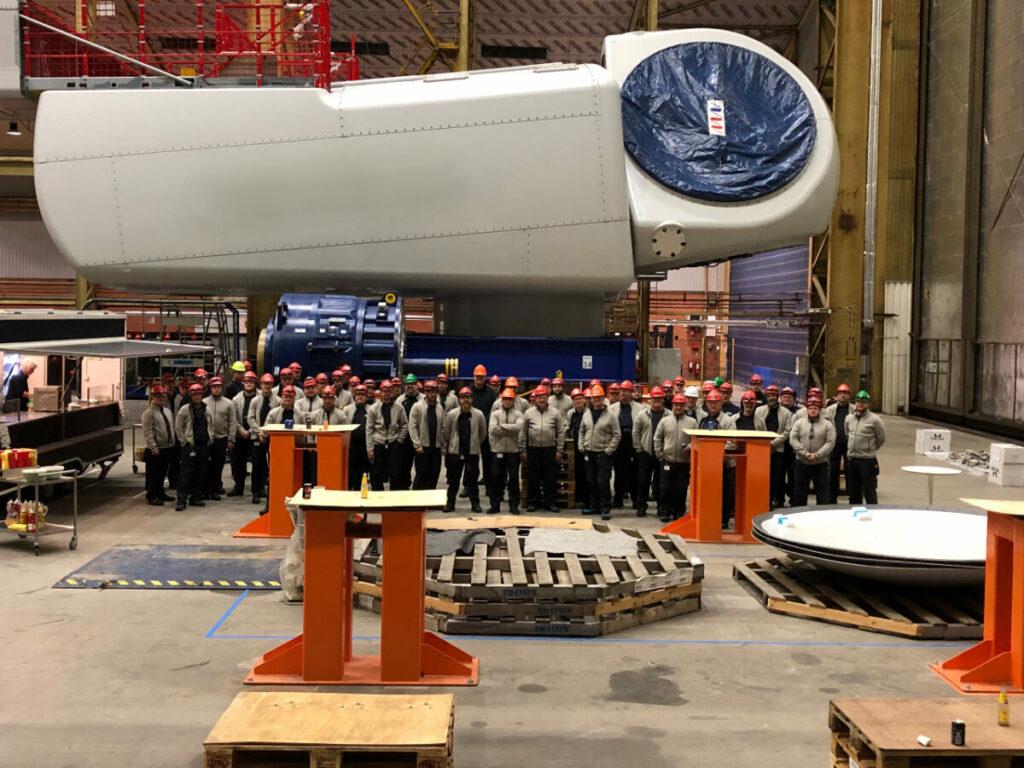 MHI Vestas Rolls Out 500th V164 Nacelle