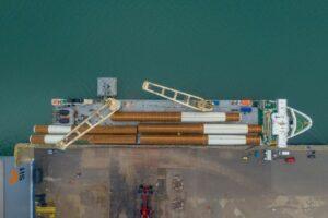 SAL Transporting Dutch Monopiles to Japan