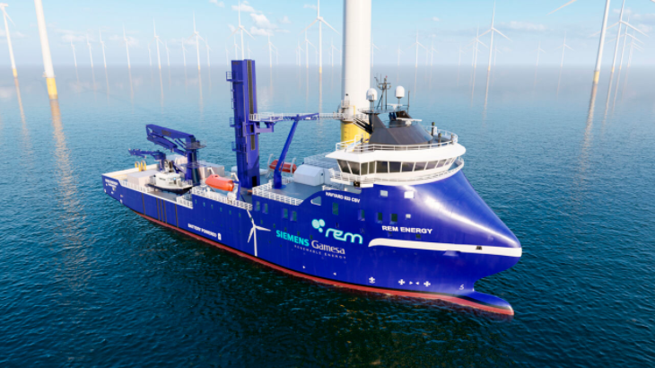 Siemens Gamesa Charters Rem Offshore's Newbuild CSV