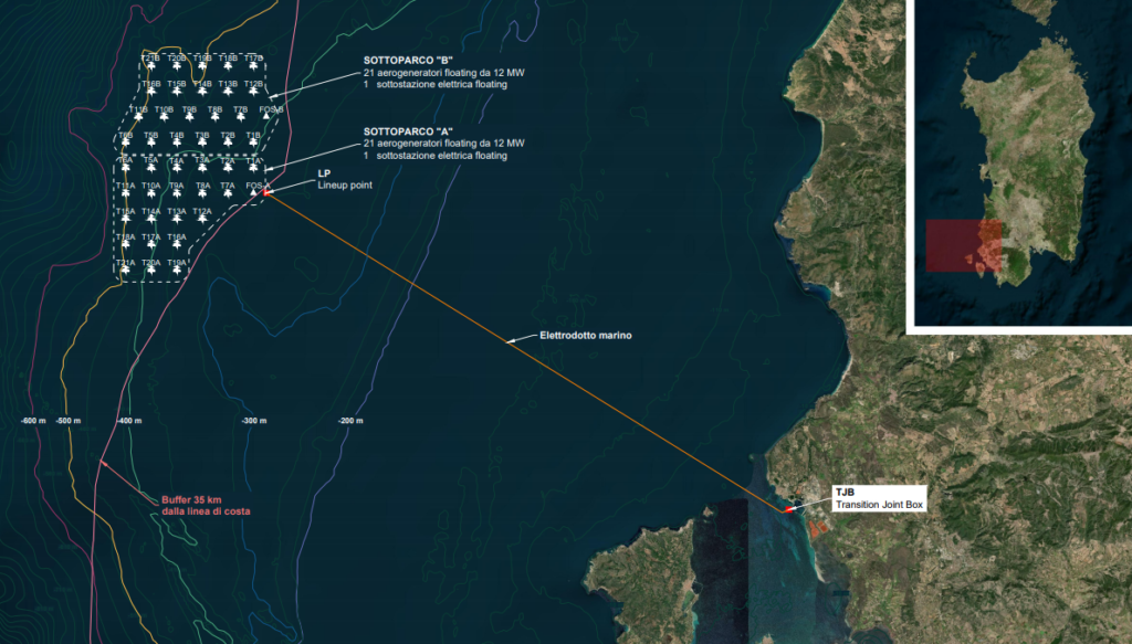 Plans Revealed for 42-Turbine Floating Wind Farm Offshore Sardinia