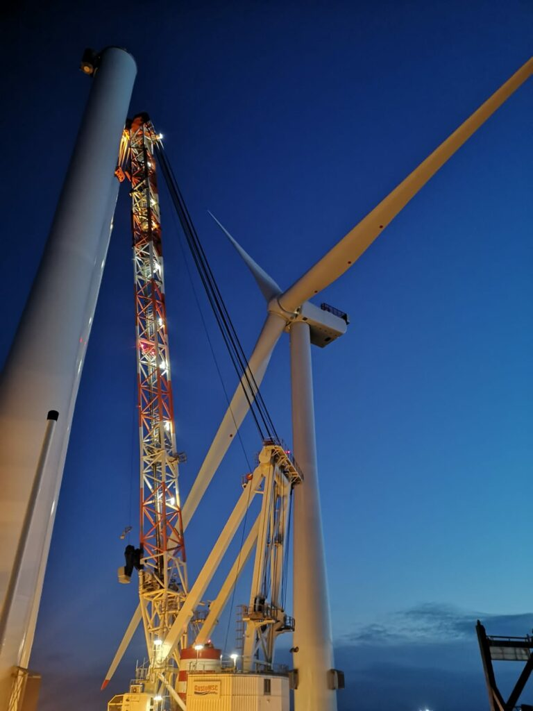 First Turbine Stands at Moray East Offshore Wind Farm