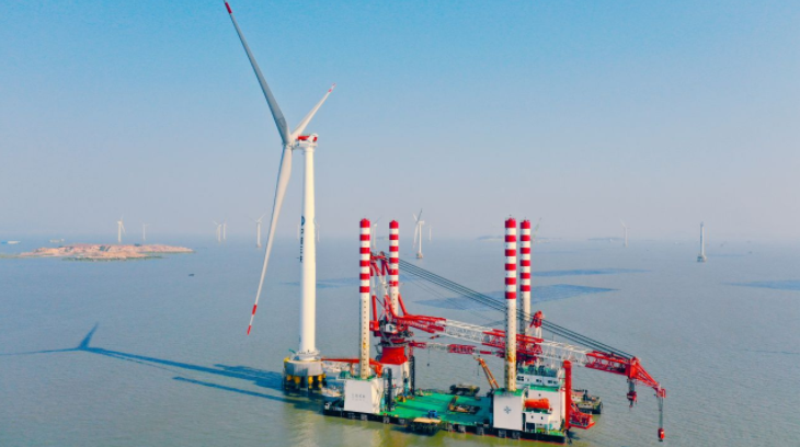 First MySE8.3-180 Wind Turbine Stands Offshore