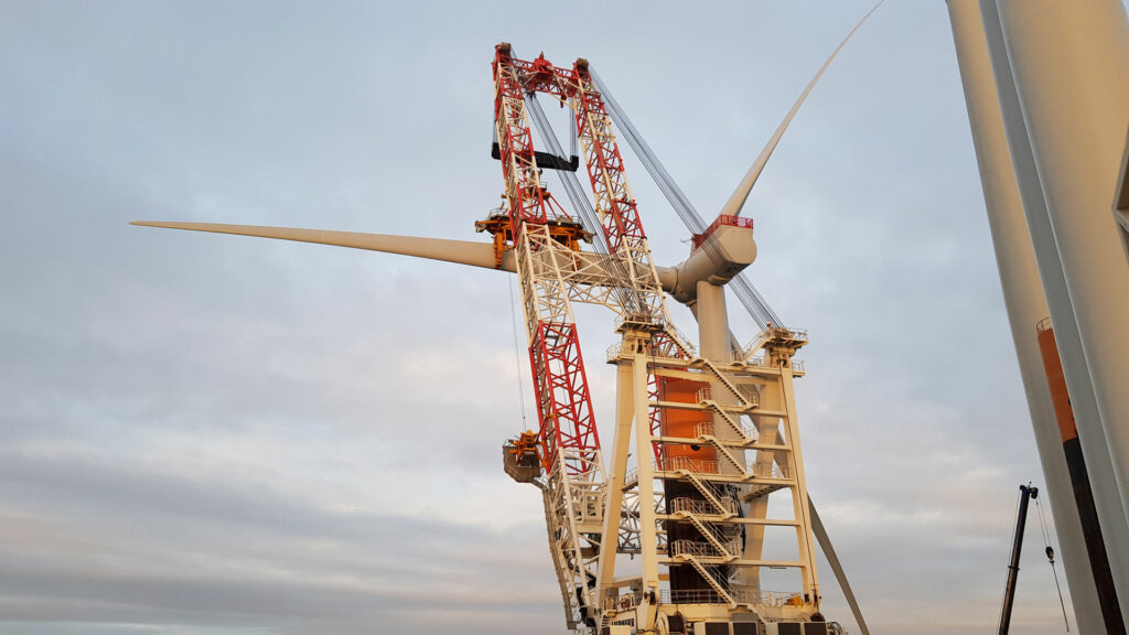 First Turbine in at Denmark's Largest Offshore Wind Farm