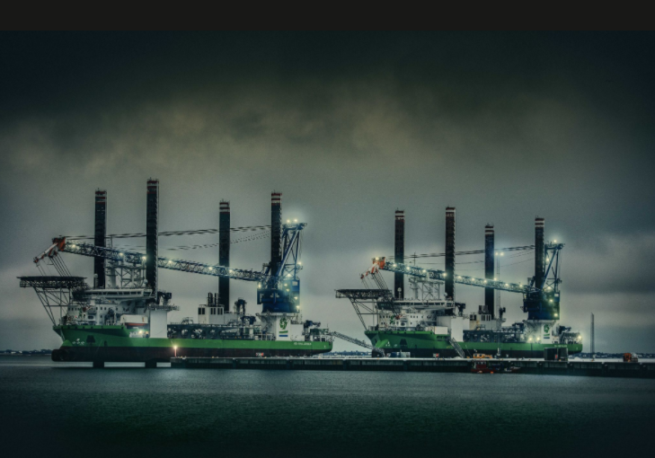 Offshore Wind Powers Installation Jack-Ups at Port Esbjerg