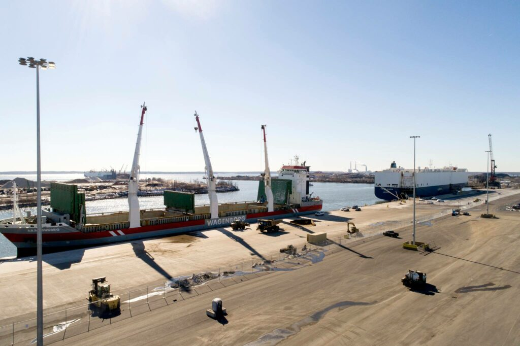 Maryland's First Offshore Wind Staging Center Starts Taking Shape