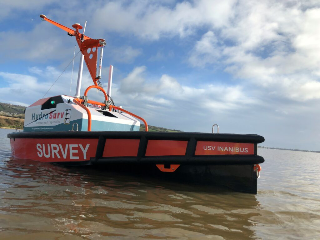 HydroSurv's REAV-40, a multipurpose autonomous surface vehicle for hydrographic and environmental survey.