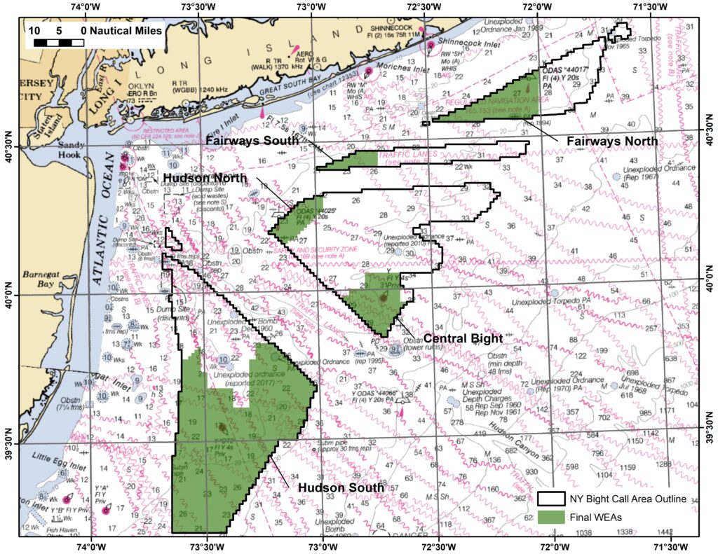 US Identifies New Offshore Wind Areas in New York Bight
