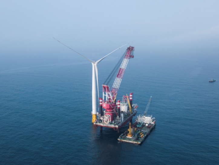 First Turbine Stands at Zhanjiang Xuwen Offshore Wind Farm