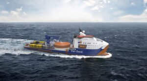 Red Rock Crane for Van Oord's New Cable Layer