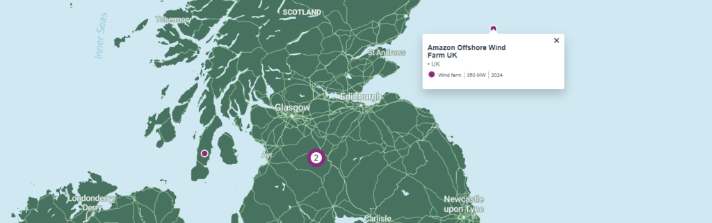 Amazon Reveals Offshore Wind Plans in UK