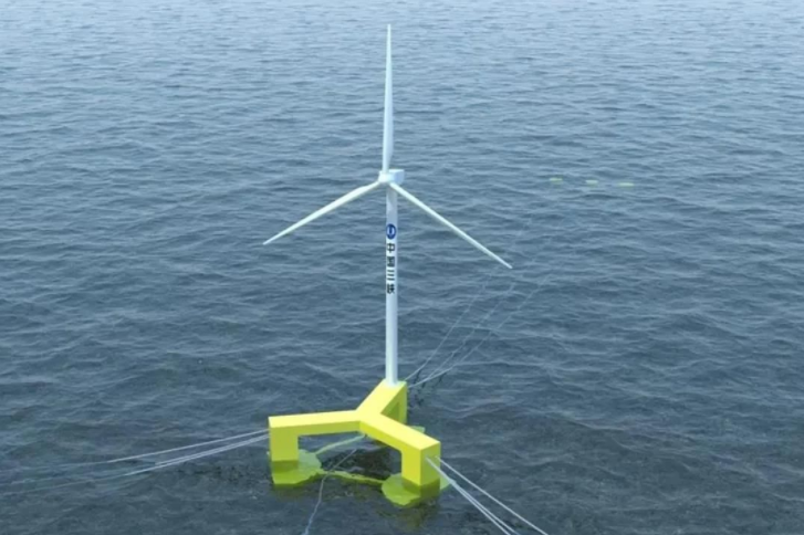 China's First Floating Offshore Wind Turbine
