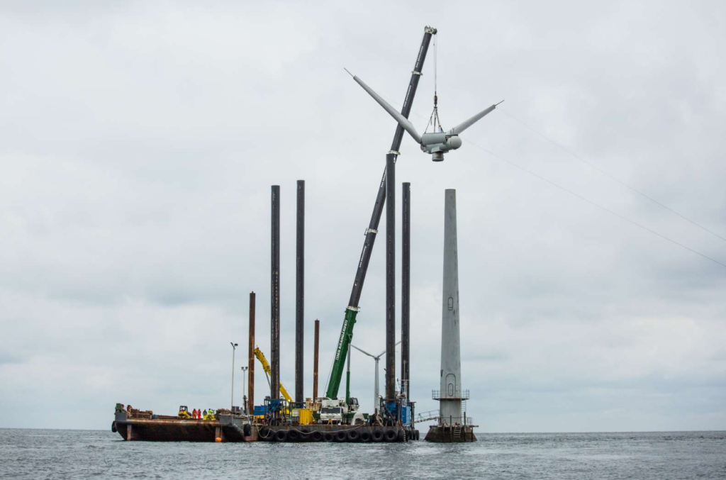 Decommissioning of Vindeby, the world's first offshore wind farm